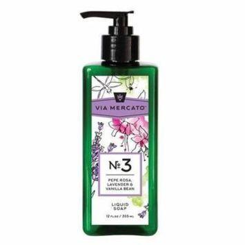 Via Mercato Liquid Hand Soap#3-Pepe Rose, Lavender & Vanilla