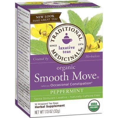 Traditional Medicinals Organic Smooth move Tea - Senna Peppermint - 16 Bags