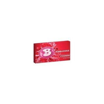 BUBBLICIOUS GUM STRAWBERRY (Pack of 24)