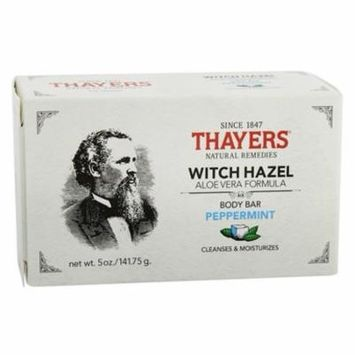 Body Bar Soap with Witch Hazel and Aloe Vera Peppermint - 5 oz. by Thayers (pack of 6)