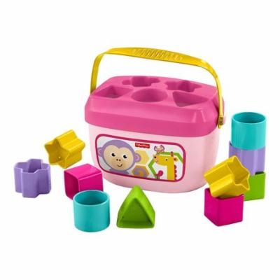 Fisher-Price Fisher-Price Baby's First Pink Blocks (11pc Set) Toddler Development Toys