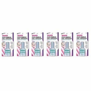 Nutra Nail Flex-Shield Nail Hardener (Pack of 6) + Makeup Blender Stick, 12 Pcs