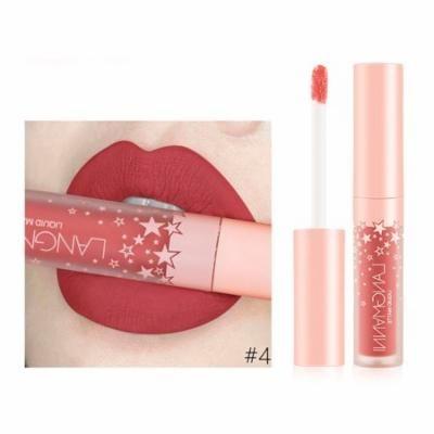 iLH Mallroom Fashion Lipstick Cosmetics Women Sexy Waterproof Lips Matte Lasting Lip Gloss D