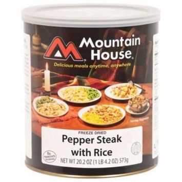Mountain House 290112 Pepper Steak With rice Can, Pack of 1