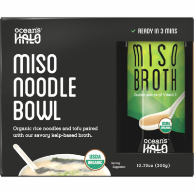 Ocean's Halo Organic and Vegan Instant Miso Noodle Bowl, 2 Pack
