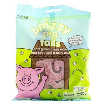 Marks & Spencer | Percy Pigs -Phizzy Pig Tails | 4 x 170g Bags | REDUCED FOR BLACK FRIDAY SALES WEEK!