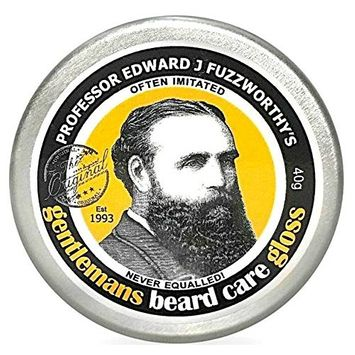 Professor Fuzzworthy's Beard Balm Gloss Leave In Conditioner All Natural Organic Beard Care with Leatherwood Honey & Essential Plant Oils   Handmade in Tasmania Australia- 40g