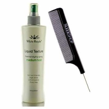 White Sands LIQUID TEXTURE, MEDIUM HOLD, Thermal Styling Spray, Hot Tool Friendly, High Shine, Lift & Control, Frizz-Free (Stylist Kit) (MED. HOLD, 8.5 oz / 250 ml)