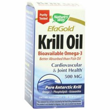 Nature's Way Essential Fatty Acids, Krill Oil 500mg 30 softgels, Pack of 2