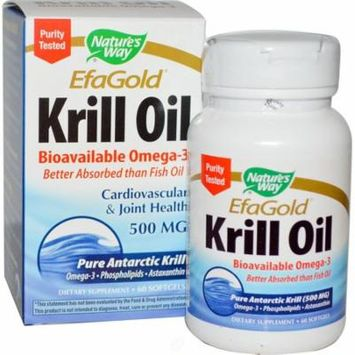 Nature's Way - EfaGold, Krill Oil, 500 mg, 60 Softgels, Pack of 2