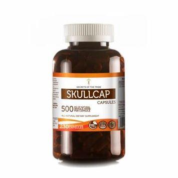 Skullcap 230 Capsules, 500 mg, Organic Skullcap (Scutellaria lateriflora) Dried Herb