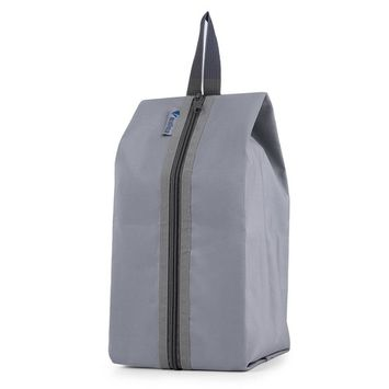 Gray Portable Storage 600D Waterproof Nylon Hook Shoe Bag Multifunction Travel Tote Storage Bag Organizer Container