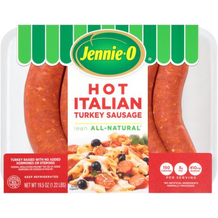 Jennie-O Turkey Store Hot Italian Turkey Sausage Links