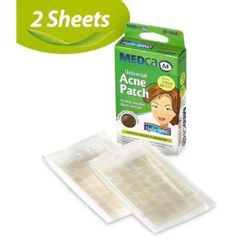 Etcbuys MEDca Universal Acne Pimple Patch Absorbing Cover 36 Count Two Sizes TWO SHEETS Total of 72 patches