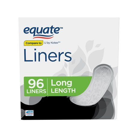 Equate Liners, Unscented, Long, 96 Count