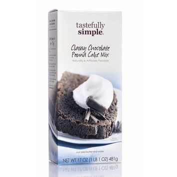 Tastefully Simple Classy Chocolate Pound Cake Mix