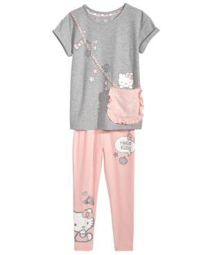 Hello Kitty Little Girls 3-Pc. Purse T-Shirt & Leggings Set