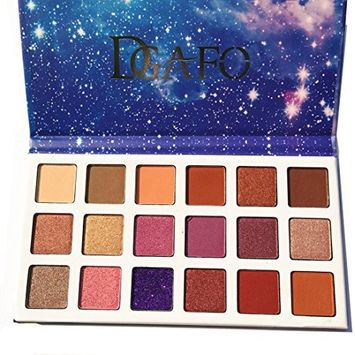 Lotus.Flower 18 Colors Limited Matte Eyeshadow Palette Glitter Eyeshadow Combination Smoky with Shimmer Eyeshadow Starry Sky Makeup Palette Cosmetics