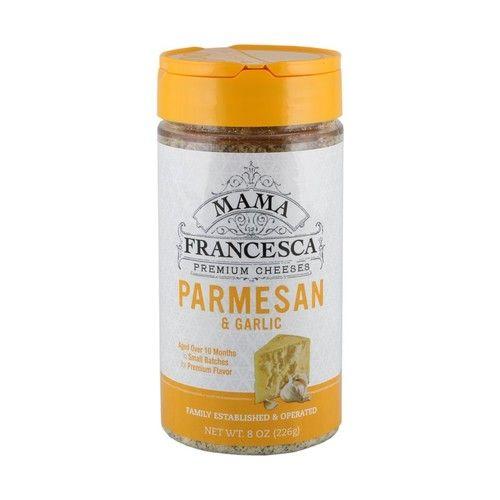 Mama Francesca Premium Parmesan and Garlic Cheese, 8 Ounce