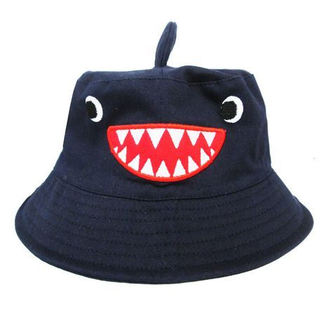 George Boys' Embroidered Bucket Hat With Fin Applique