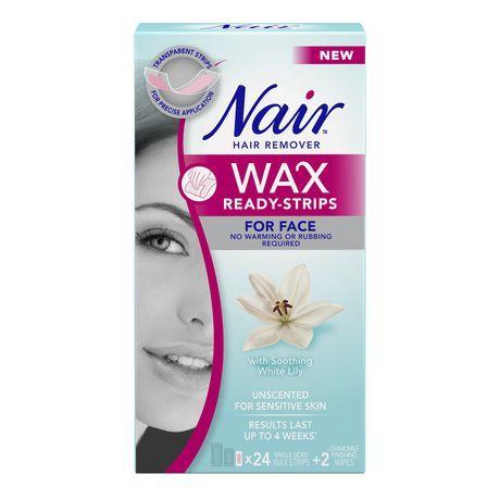 Nair Wax Ready-Strips Face Hair Remover