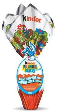 Ferrero Kinder Surprise Maxi Easter Milk Chocolate With Milky Lining Surprise Toy