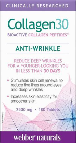 Webber Naturals Webber Naturals Collagen30 Anti-Wrinkle Bioactive Collagen Peptides Tablets