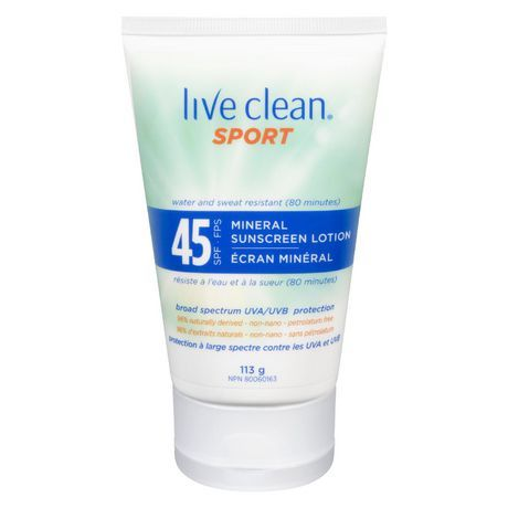 Live Clean Sport Mineral Spf 45 Sunscreen Lotion