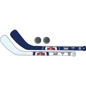 Franklin Sports NHL Winnipeg Jets Mini Hockey Player Stick Set - 2 stick and 2 ball set