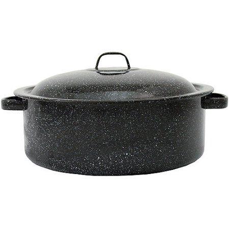 Granite Ware 3-Quart Covered Casserole, Black
