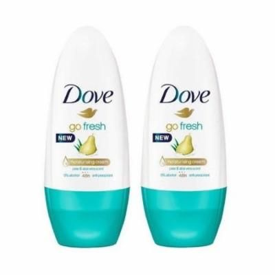 Dove Roll-on Pears & Aloe 50 Ml (Pack Of 2)