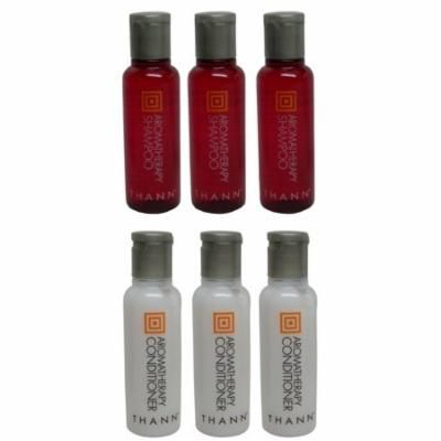 Thann Aromatherapy Shampoo & Conditioner lot of 6(3 of each)