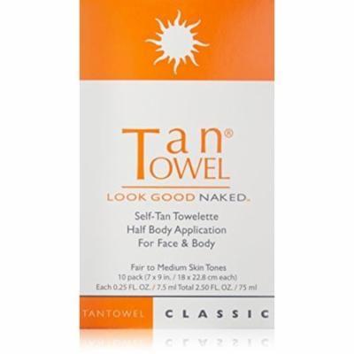 Tan Towel Self Tan Towelette Half Body Classic 10 Count, PACK OF 1