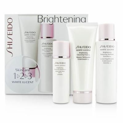 Shiseido White Lucent 1-2-3 Kit: Balancing Softener 100ml + Cleansing Foam W 75ml +Protective Emulsion W SPF 18 30ml 3pcs