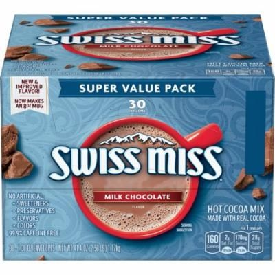 Swiss Miss Milk Chocolate Hot Cocoa Mix Envelope, 30 count