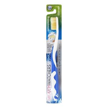 Mouth Watchers Antimicrobial Adult Soft Toothbrush, Blue, 1 Ea, 6 Pack