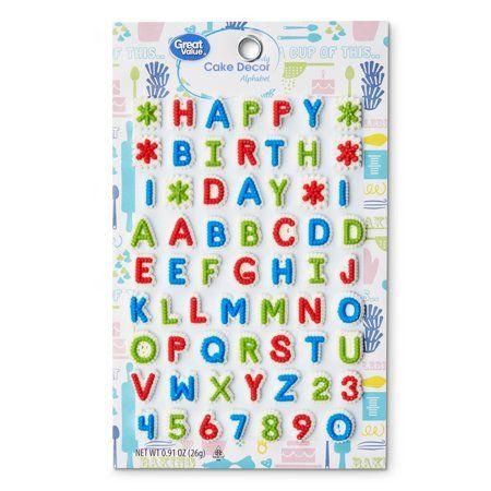 Great Value Candy Cake Decor, Alphabet, .91 oz