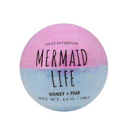 Onyx BathHouse Mermaid Life Honey & Pear Bath Bomb, 4.9 Oz.