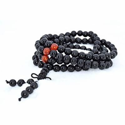 The Art of Cure Healing Jewelry & Mala meditation beads (108 beads on a strand) (obsidian)