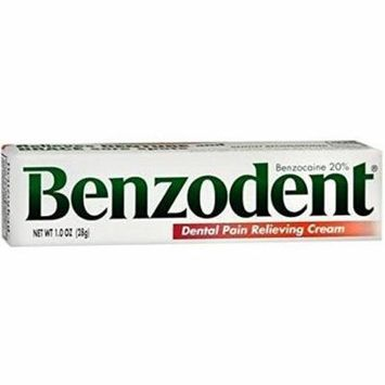 Benzodent Dental Pain Relieving Cream 1 oz