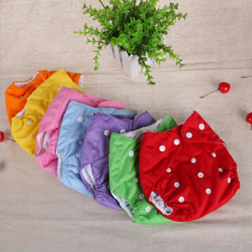 3Pack One size Cloth Diaper double hip snaps 6pcs Pack Fitted Pocket Washable Random Color