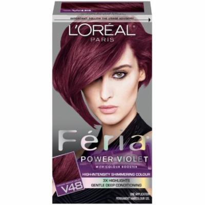 L'oreal Paris L'or Al Paris F Ria Power Violet V48 Haircolour Intense Dark Brown (Pack of 12)