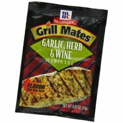 McCormick Grill Mates Garlic, Herb & Wine Marinade, 0.87 oz (Case of 12)