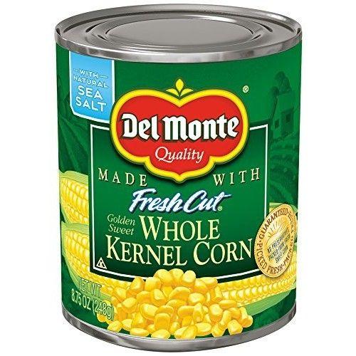 Del Monte Corn, Whole Kernel Golden Sweet, 8.75 oz (2 Pack)