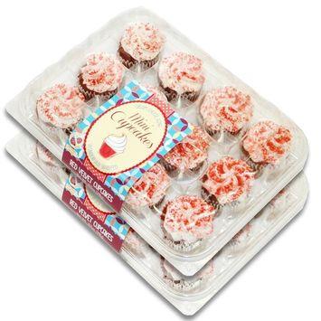 Fresh Baked Mini Cupcakes- 2 Packages (Red Velvet)