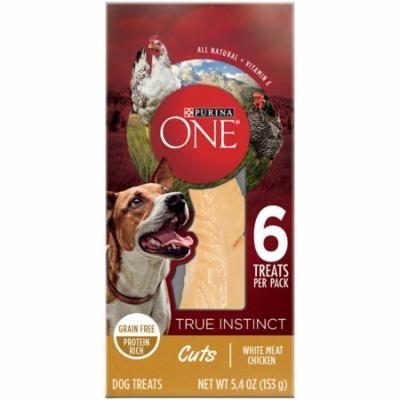 Purina ONE True Instinct Cuts White Meat Chicken Dog Treats 5.4 oz. Box