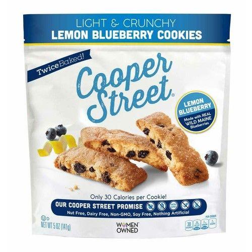 Light & Crunchy Lemon Blueberry Cookies, Twice Baked, 2 Pack (each Net Wt 5 oz)