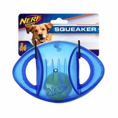 Nerf Dog 6.5in TPR Thunder Blitz Football - Blue, Dog Toy