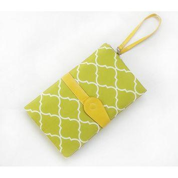 EsTong Baby Portable Diaper Changing Pad Waterproof Change Mat Clutch Travel Kit Green