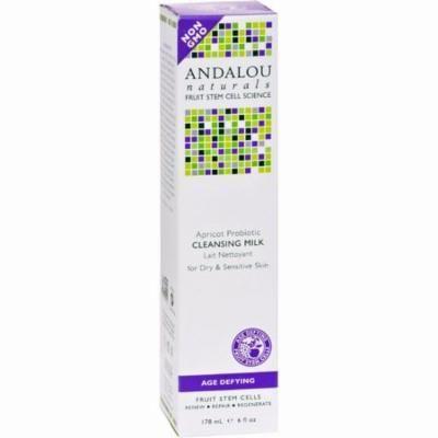 Andalou Naturals Cleansing Milk For Dry Sensitive Skin Apricot Probiotic - 6 Fl Oz